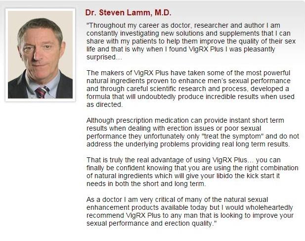 dr endorsement for VigRX Plus